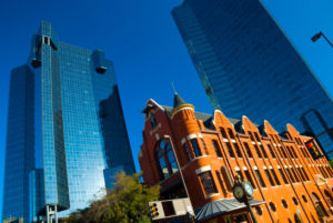 Old vs New: Fort Worth glass buildings and historic building